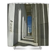 Washington Monument From Lincoln Memorial Shower Curtain