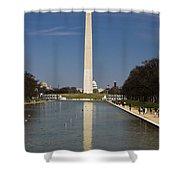 Washington Monument In Reflecting Pool Shower Curtain