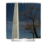Washington Monument's World Famous Kite Eating Tree Shower Curtain