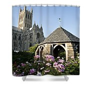 Washington National Cathedral And Stone Shower Curtain