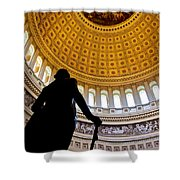 Washington Under Capitol Dome Shower Curtain