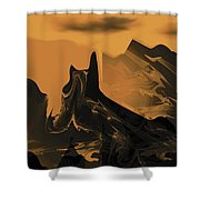 Wastelands Shower Curtain
