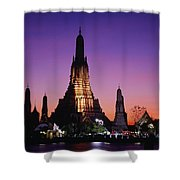 Wat Arun In Bangkok, Thailand Shower Curtain