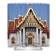 Wat Benchamabophit Ubosot Dthb180 Shower Curtain