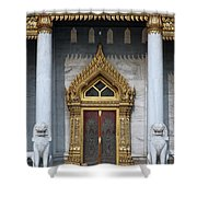 Wat Benchamabophit Ubosot Front Entrance Dthb1242 Shower Curtain