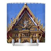 Wat Chai Mongkol Ubosot Gable Dthu609 Shower Curtain