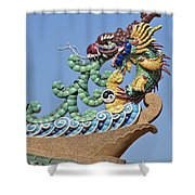 Wat Chaimongkol Pagoda Dragon Finial Dthb787 Shower Curtain