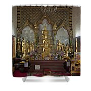 Wat Chamni Hatthakan Ubosot Interior Dthb929 Shower Curtain