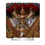 Wat Hua Lamphong Ubosot Roof Garuda Dthb1065 Shower Curtain