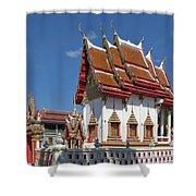 Wat Huai Phai Ubosot And Compound Dthu096 Shower Curtain