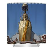 Wat Intarawiharn Phra Luang Phor Toh Standing Buddha Dthb294 Shower Curtain