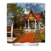 Wat Kham Chanot Shower Curtain