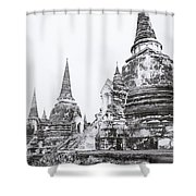 Wat Phra Si Sanphet  Shower Curtain