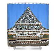 Wat Ratcha Orasaram Temple Gate And Ubosot Gable Dthb858 Shower Curtain