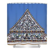Wat Ratcha Orasaram Ubosot Gable Dthb427 Shower Curtain