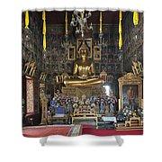 Wat Ratcha Orasaram Ubosot Interior Dthb859 Shower Curtain