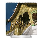 Wat Sen Naga Heads Shower Curtain