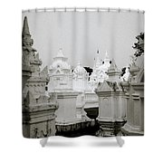 Wat Suan Dok Cemetery  Shower Curtain