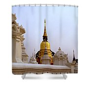 Wat Suan Dok Royal Cemetery  Shower Curtain