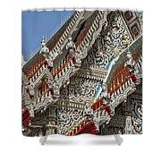 Wat Suan Phlu Ubosot Angel Gable Finials Dthb227 Shower Curtain
