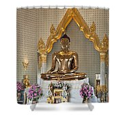 Wat Traimit Golden Buddha Dthb964 Shower Curtain