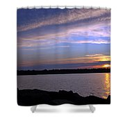 Watchin The Sun Set Shower Curtain
