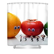 Watching Festival Parade Shower Curtain