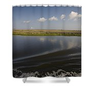 Water And Marsh In Plaquemines Parish Shower Curtain