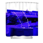 Water Art In Purple Shower Curtain
