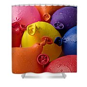 Water Balloons Shower Curtain