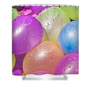 Water Balloons Shower Curtain by Patrick M Lynch
