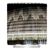 Water Cascade Over Building Shower Curtain