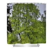 Water Color Reflections Shower Curtain