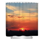 Water Color Sky Shower Curtain