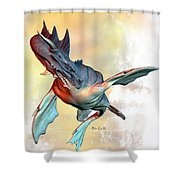 Water Dragon Shower Curtain by Bob Orsillo