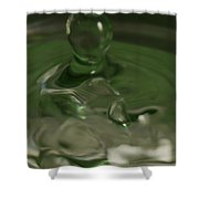 Water Drop Abstract Green 28 Shower Curtain