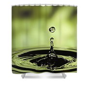 Water Drop And Ripples Shower Curtain