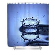 Water Drop Splashes Shower Curtain
