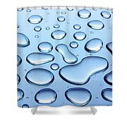 Water Drops Shower Curtain by Carlos Caetano