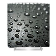 Water Drops On Metal Pan Shower Curtain