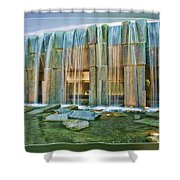 Water Fall Building Shower Curtain