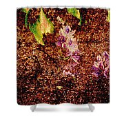 Water Flowers Vietnam Shower Curtain