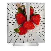 Water For Strawberries Shower Curtain