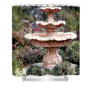 Water Fountain In  The Forest Shower Curtain