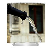 Water Fountain Shower Curtain