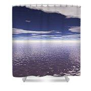 Water Horizon Shower Curtain