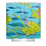 Water Lilies Panorama Shower Curtain