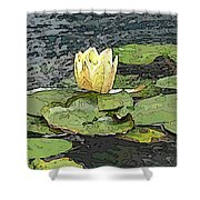 Water Lily Cometh Shower Curtain