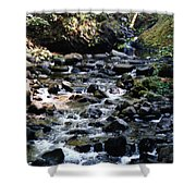 Water Over Rocks Shower Curtain