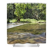 Water Over The Bridge Shower Curtain